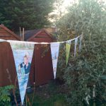 Being a Mummy celebrates with some Bear Hunt bunting in the garden