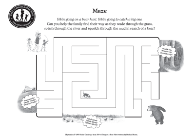 We 39 re going on a bear hunt play for Going on a bear hunt coloring pages