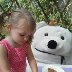 Nigel the bear and friends in Long Melford