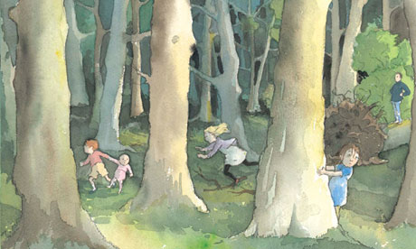 inside spread from We're Going on a Bear Hunt