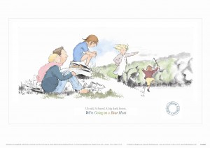 Limited Edition Print 2 from Aquarelle of family on hill from We're Going on a Bear Hunt