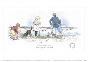 Limited Edition Print 3 from Aquarelle of family on beach from We're Going on a Bear Hunt