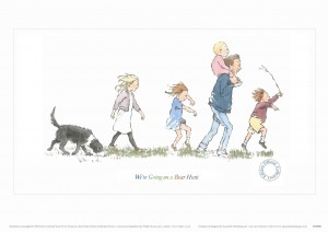 Limited Edition Print 4 from Aquarelle of family walking from We're Going on a Bear Hunt