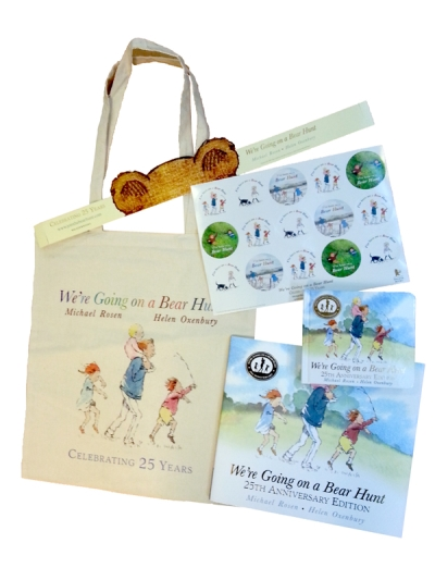 Bear Hunt Party Pack with Bear ears, bag, stickers and books