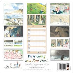 Flame Tree We're Going on a Bear Hunt Family Organiser Wall Calendar 2014 back