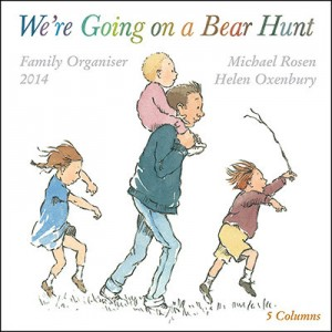 Flame Tree We're Going on a Bear Hunt Family Organiser Wall Calendar 2014 front