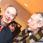 Michael Rosen shares a joke with David Lloyd