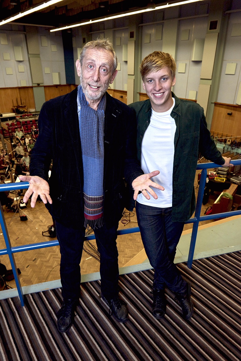 Michael Rosen and George Ezra